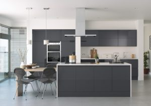 handleless high gloss kitchen doors