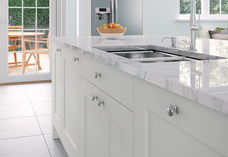 Contemporary Modern Florence Painted Porcelain Kitchen Island