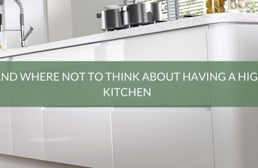 Where and where not to think about having a high gloss kitchen