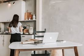 working from in kitchen