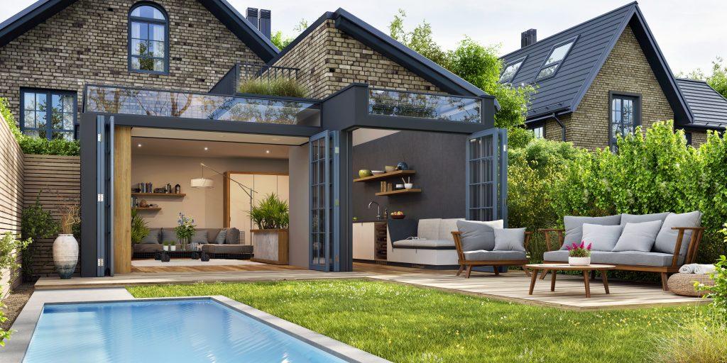 kitchen exterior extension