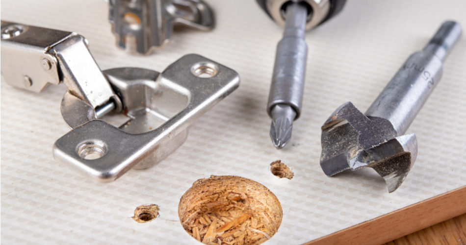 How to drill hinge holes in kitchen doors