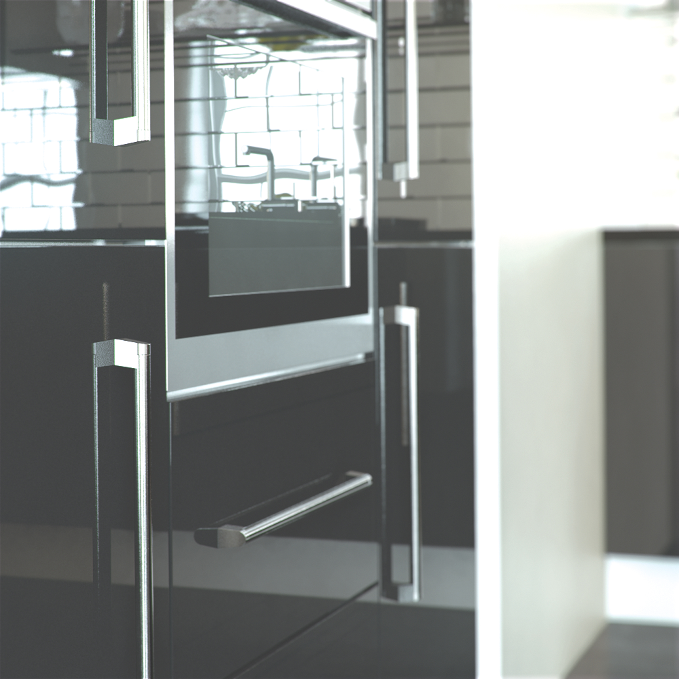 Metallic Charcoal Cheap Kitchen Units And Cabinets For