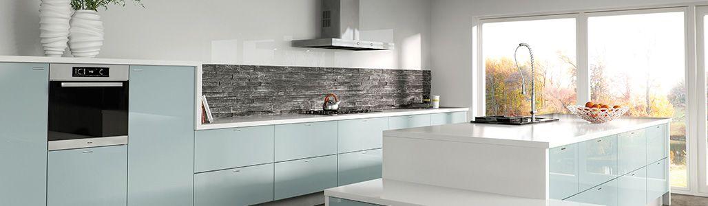 High Gloss Stardust Blue Kitchen Units Cabinets Doors