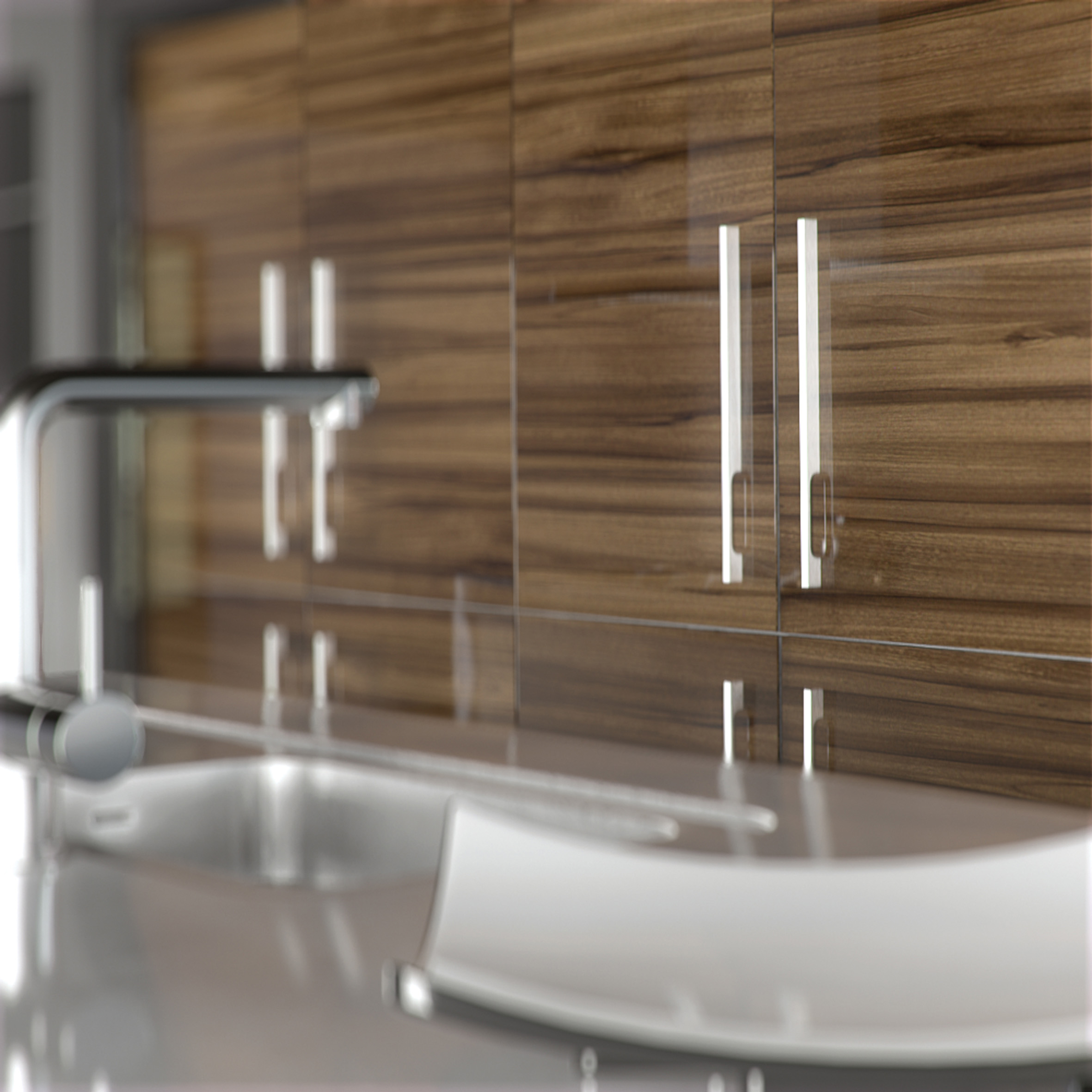 Tigerwood Cheap Kitchen Units And Cabinets For Sale