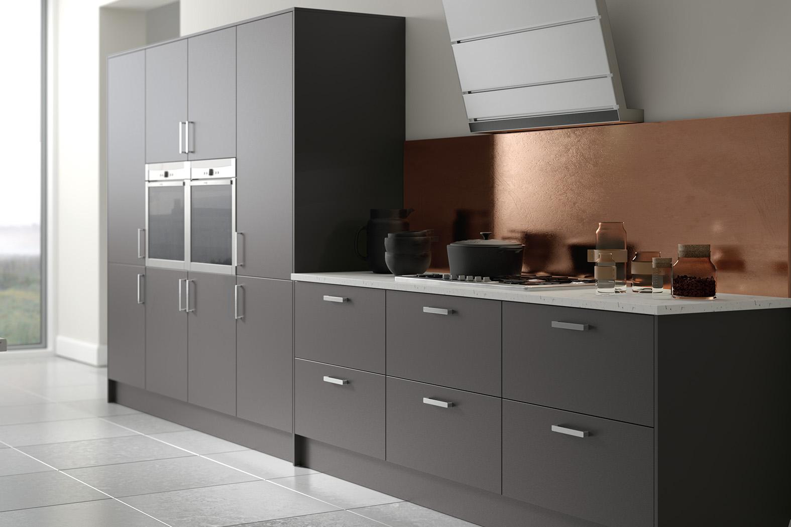 Supermatt Graphite : Cheap Kitchen Units And Cabinets For