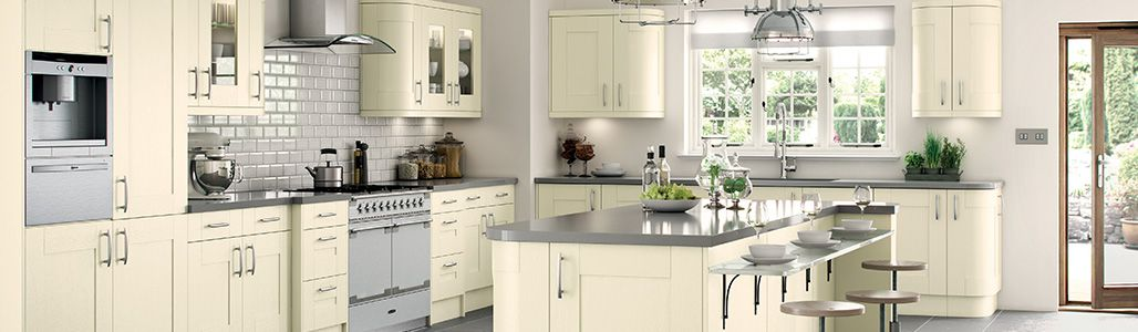 Enjoyable Cream Shaker Kitchen Units And Cabinet Doors Kitchen Warehouse Download Free Architecture Designs Scobabritishbridgeorg