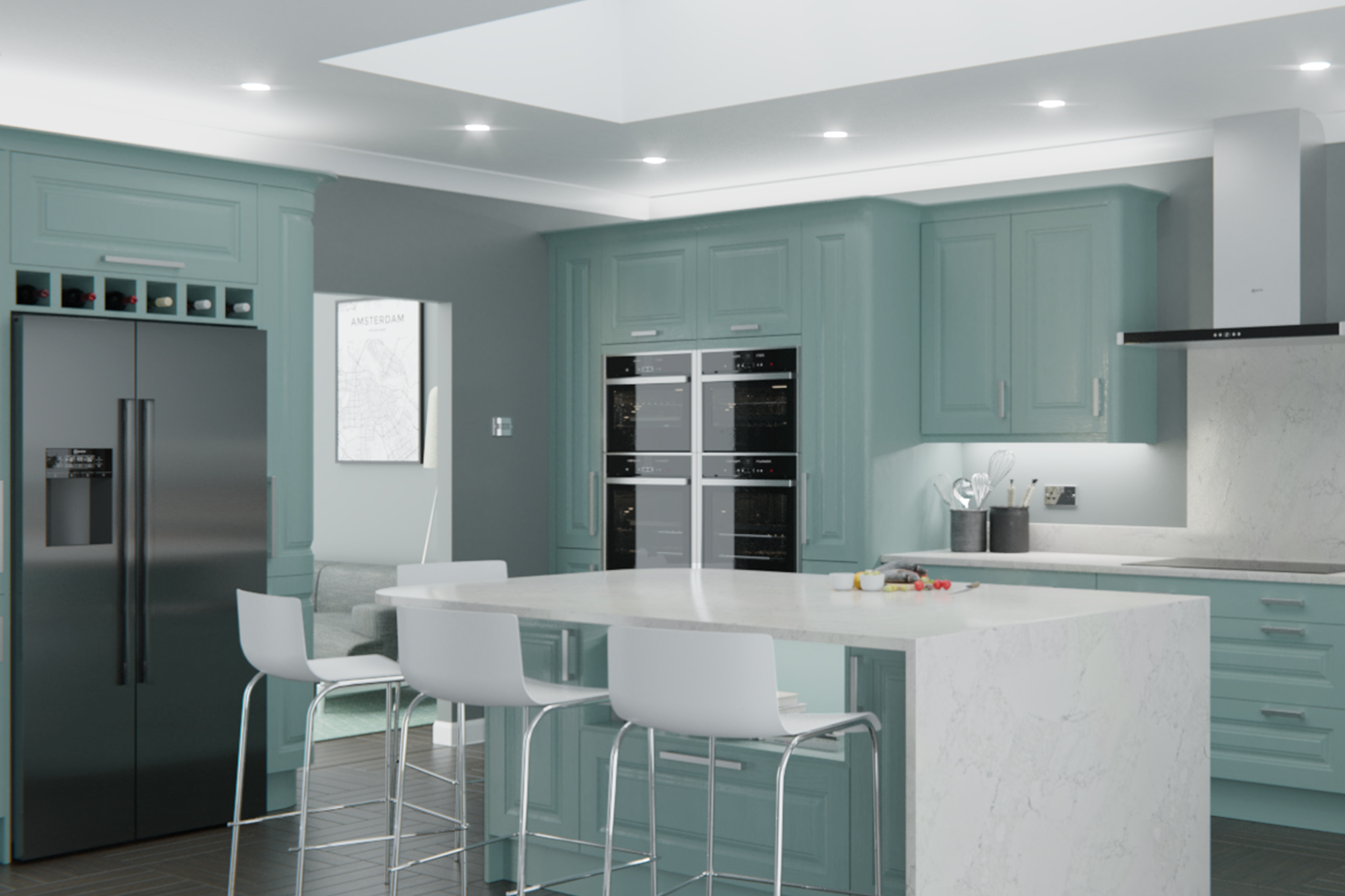 Jefferson Light Teal : Cheap Kitchen Units And Cabinets