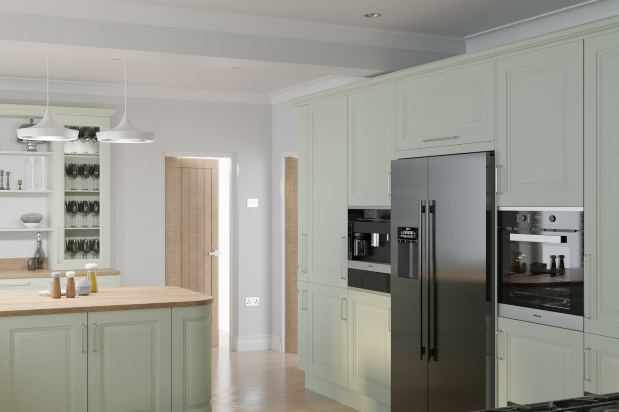 Jefferson Sage Green : Cheap Kitchen Units And Cabinets