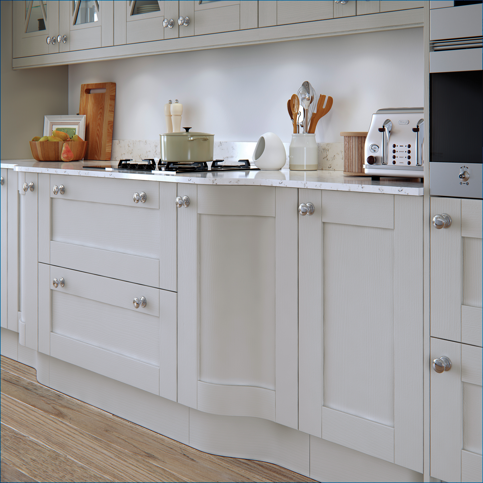 Madison Light Grey Painted Kitchen Doors : Cheap Kitchen
