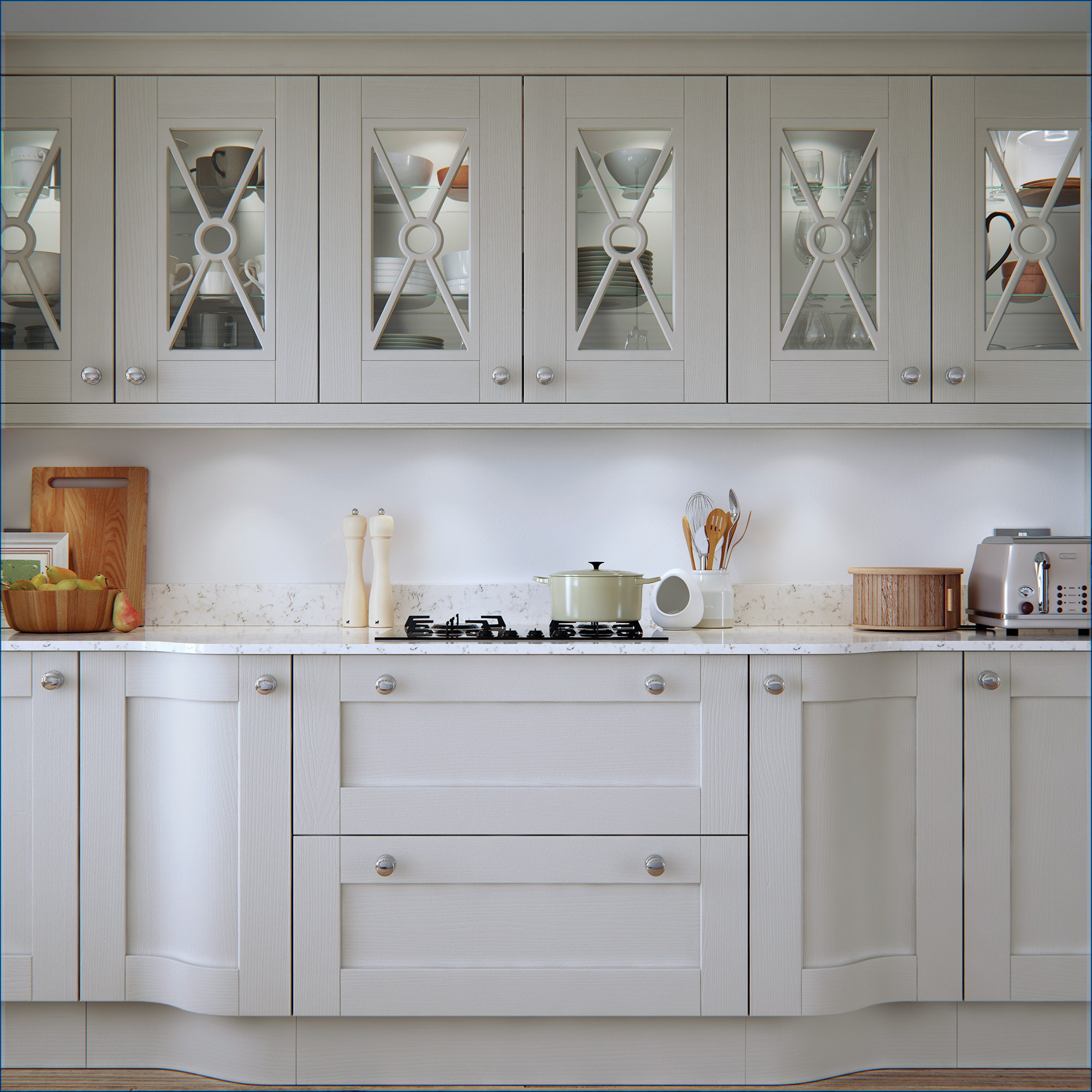 Light Painted Cabinets Kitchen: Madison Light Grey Painted Kitchen Doors : Cheap Kitchen