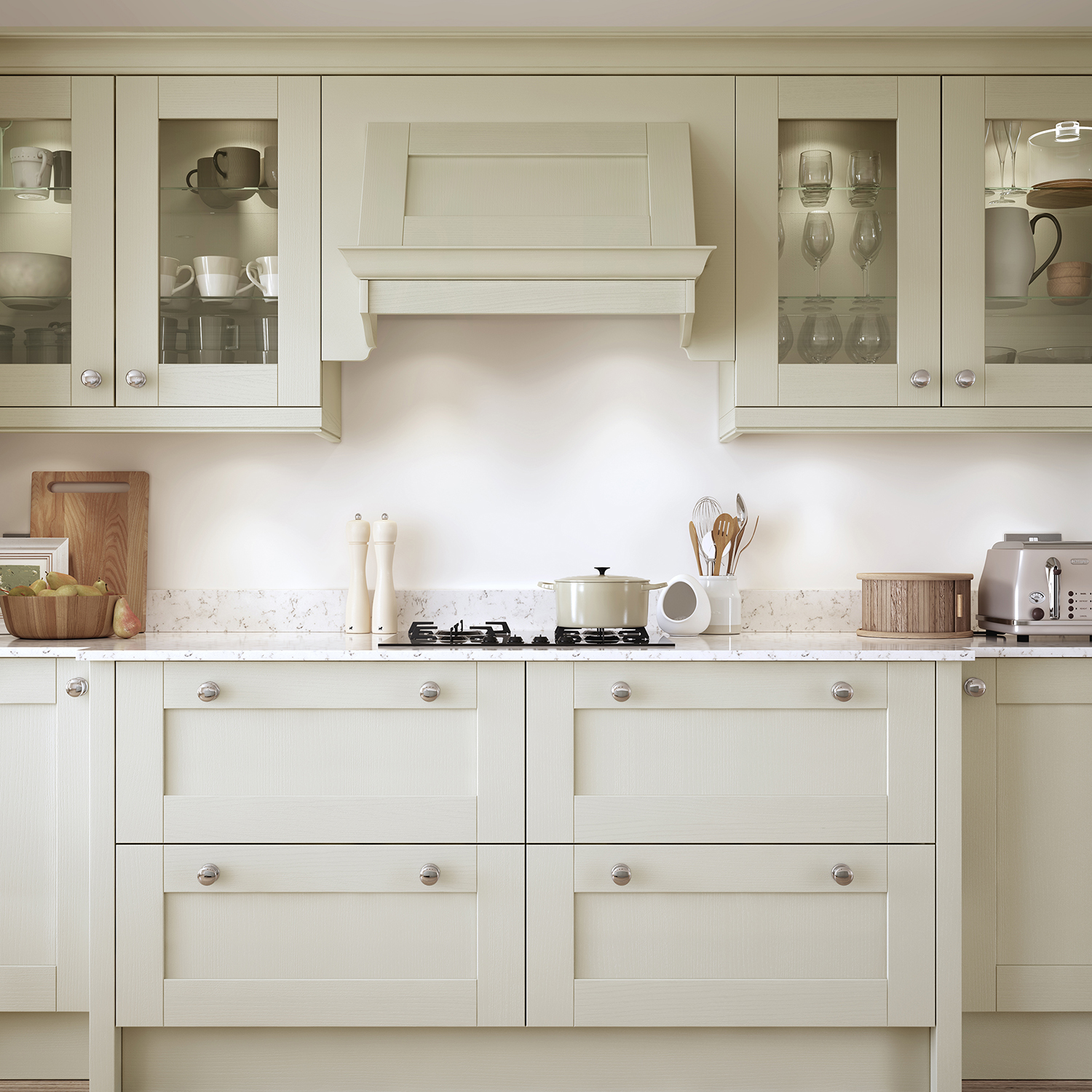 Cheap Cabinets For Kitchen: Madison Mussel Painted Kitchen Doors : Cheap Kitchen Units