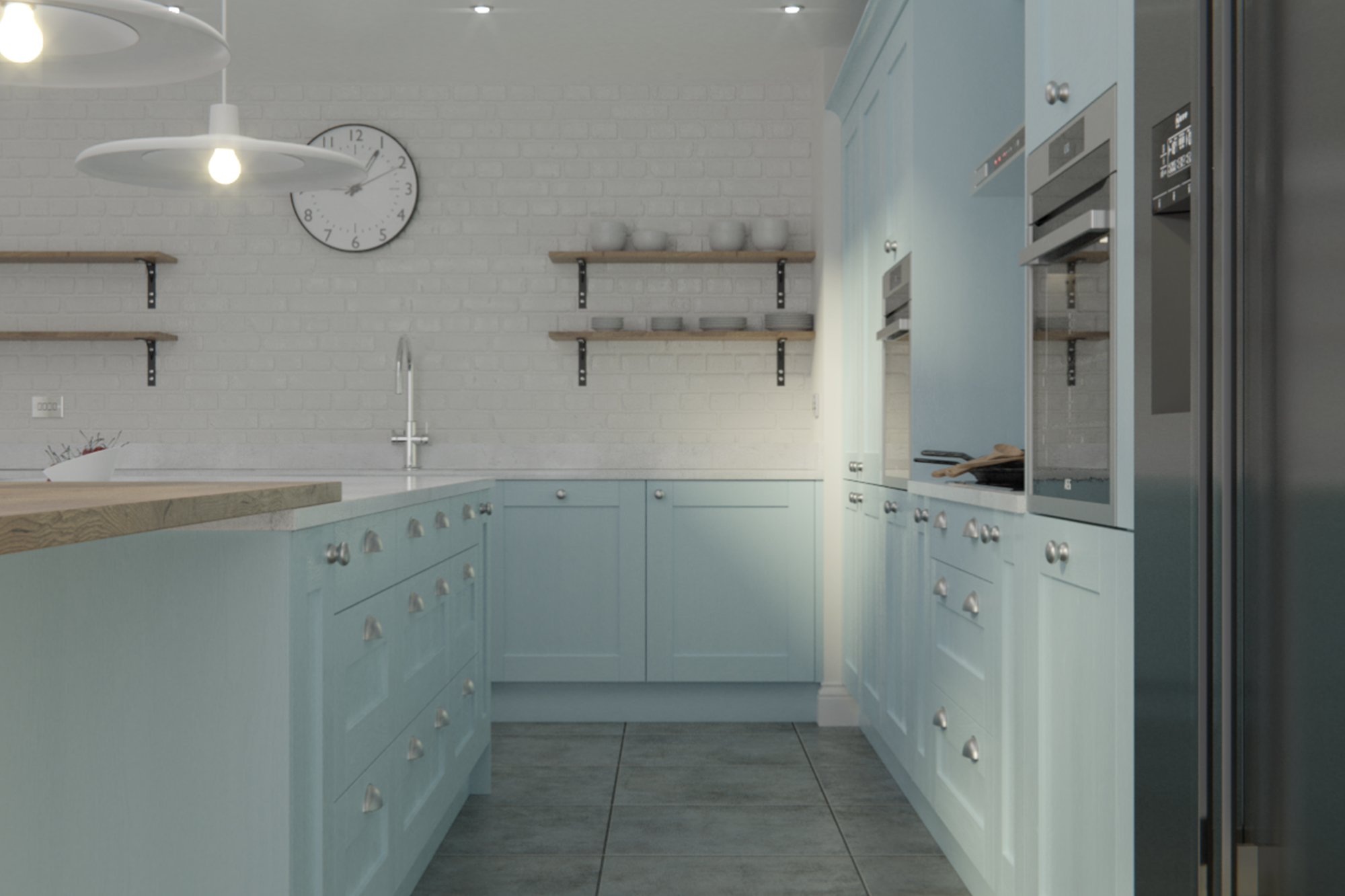 Madison Pantry Blue Painted Kitchen Doors Cheap Kitchen