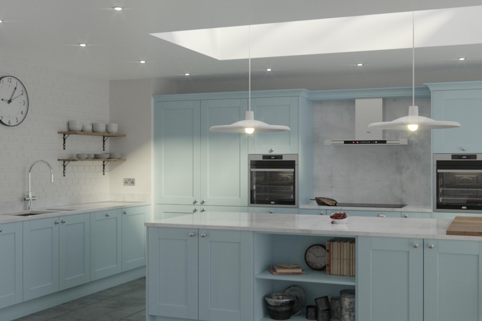 Madison Pantry Blue Painted Kitchen Doors : Cheap Kitchen