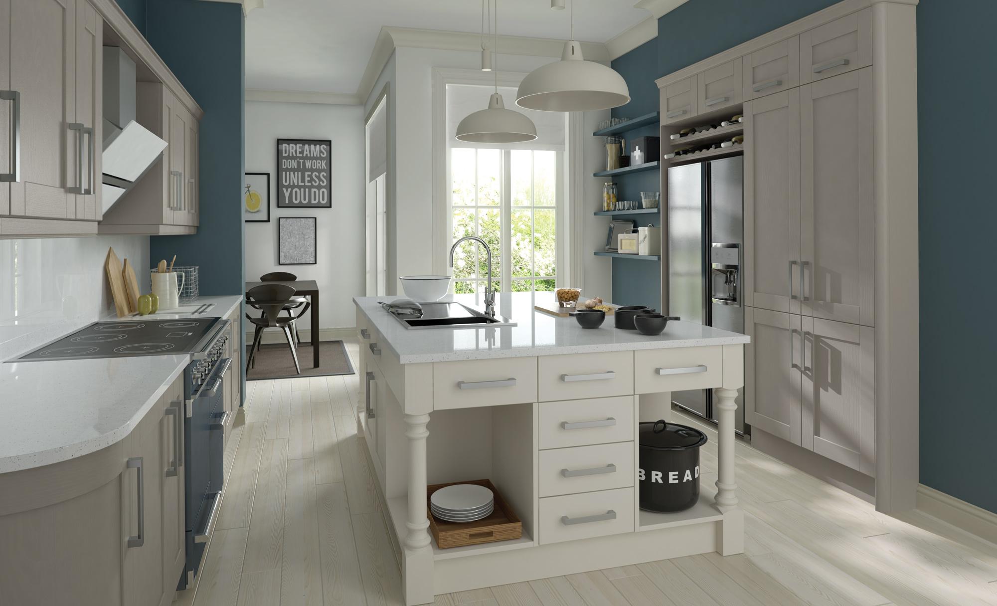 Madison Stone Painted Kitchen Doors : Cheap Kitchen Units