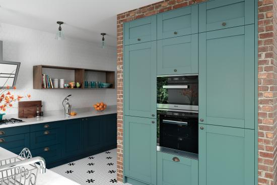Madison Light Teal Painted Kitchen Doors