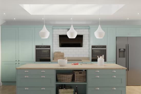 Wakefield Light Teal Cheap Kitchen Units And Cabinets For Sale Online Kitchen Warehouse